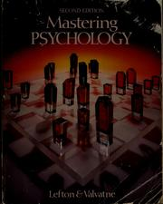 Cover of: Mastering psychology | Lester A. Lefton