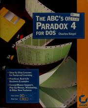 Cover of: The ABC's of Paradox 4 for DOS