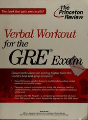 Cover of: GRE verbal workout | Yung-Yee Wu