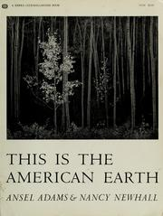 Cover of: This is the American earth