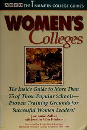 Cover of: Women's colleges