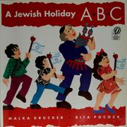 Cover of: A Jewish holiday ABC | Malka Drucker