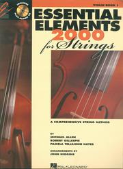 Cover of: Essential Elements 2000 for Strings, Violin, Book One |