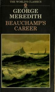 Cover of: Beauchamp's career | George Meredith
