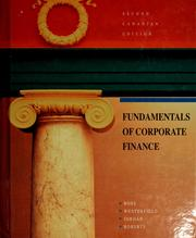 Cover of: Fundamentals of corporate finance