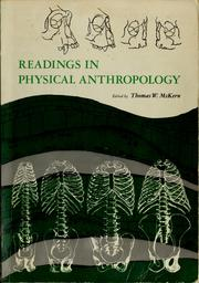 Cover of: Readings in physical anthropology | Thomas W. McKern