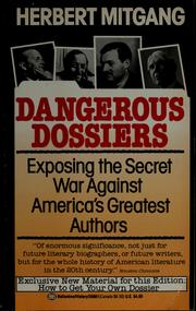 Cover of: Dangerous dossiers
