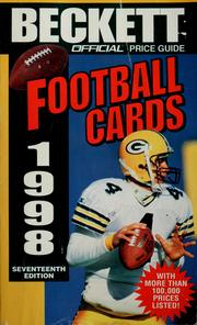 Cover of: The official 1998 price guide to football cards