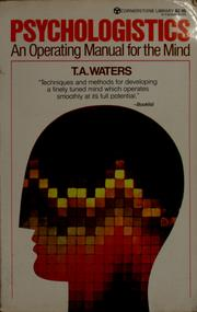 Cover of: Psychologistics | T. A. Water