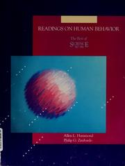 Cover of: Readings on human behavior | Allen L. Hammond