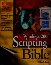 Cover of: Windows 2000 scripting bible