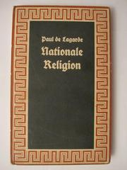 Cover of: Nationale Religion