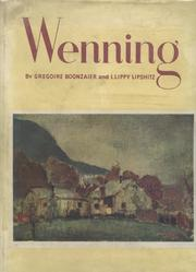 Cover of: Wenning | Gregoire Boonzaier, Israel-Isaac Lippy Lipshitz