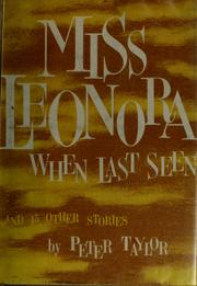 Cover of: Miss Leonora when last seen, and fifteen other stories