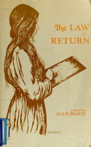 Cover of: The law of return