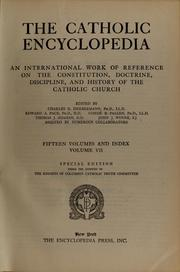 Cover of: The Catholic encyclopedia