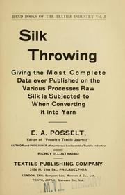 Cover of: Silk throwing