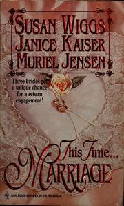 Cover of: This time... marriage
