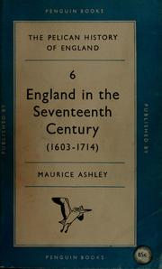 Cover of: England in the seventeenth century