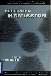 Cover of: Operation remission