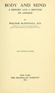 Cover of: Body and mind | McDougall, William