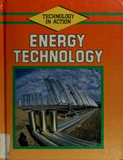 Cover of: Energy technology | Lambert, Mark