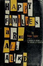 Cover of: Happy families are all alike