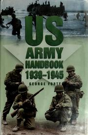 Cover of: US Army handbook, 1939-1945