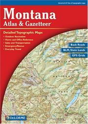 Cover of: Montana Atlas & Gazetteer | Delorme