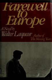 Cover of: Farewell to Europe: a novel