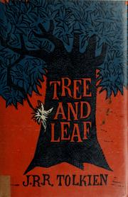 "Cover of: Tree and Leaf: Including the Poem ""Mythopoeia"""