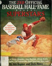 Cover of: The 2nd official Baseball Hall of Fame book of superstars