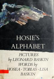 Cover of: Hosie's alphabet