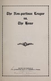 Cover of: The Non-partisan League vs. the home