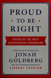 Cover of: Proud to be right