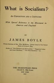 Cover of: What is socialism? | Boyle, James