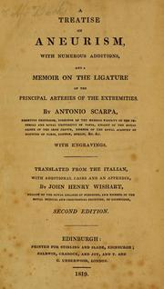 Cover of: A treatise on aneurism
