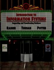 Cover of: Introduction to information systems | R. Kelly Rainer