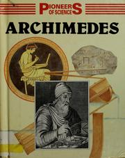 Cover of: Archimedes
