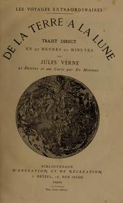 Cover of: De la terre a la lune by Jules Verne