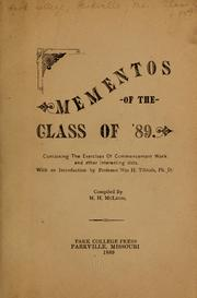 Cover of: Mementos of the class of '89 ...