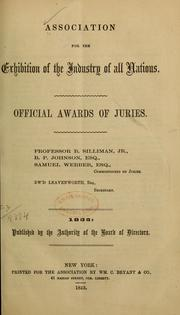 Cover of: Official awards of juries ...