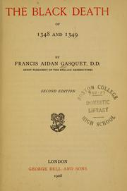 Cover of: The black death of 1348 and 1349