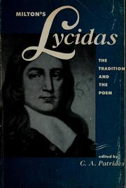 Cover of: Milton's Lycidas