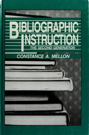 Cover of: Bibliographic Instruction