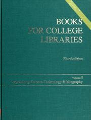 Cover of: Books for College Libraries | Ala&S Association of College & Research, Association of College and Research Libr