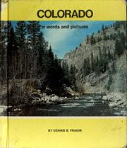 Cover of: Colorado in words and pictures