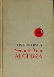 Cover of: Contemporary second-year algebra