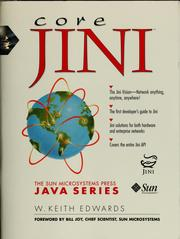 Cover of: Core Jini | W. Keith Edwards