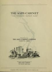 "Cover of: The safe-cabinet ""the world's safest safe."""